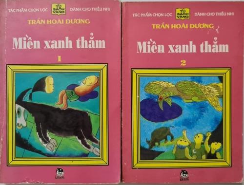 Bìa sách Miền xanh thẳm - Hình của Phạm Thế Cường.