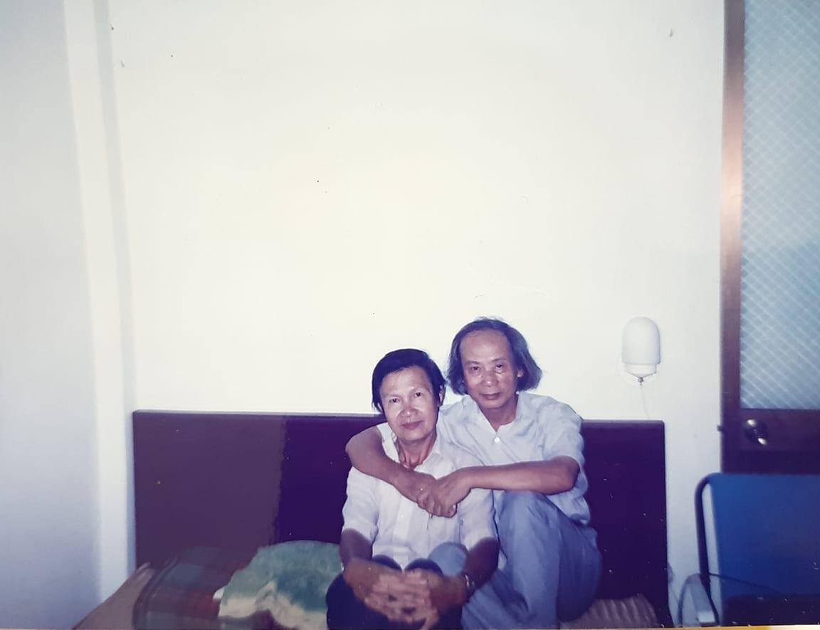 Trần Hoài Dương và nhà thơ Trúc Thông