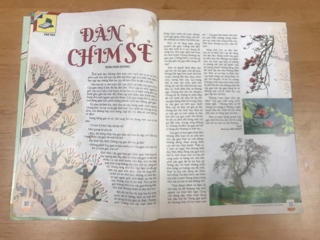 Truyện ngắn Đàn chim sẻ của Trần Hoài Dương, in báo Khăn Quàng Đỏ năm 2020